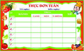 Thực đơn tham khảo cho trẻ tuần 2 và tuần 4 tháng 01/2020